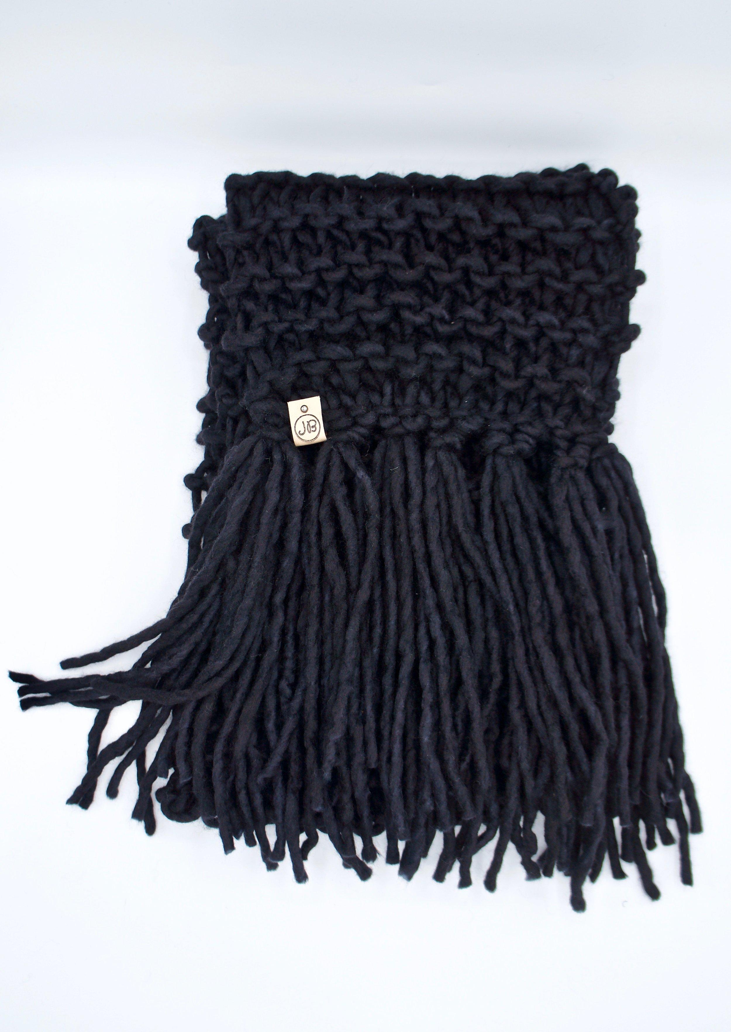Fringed Scarf   Black $165.00