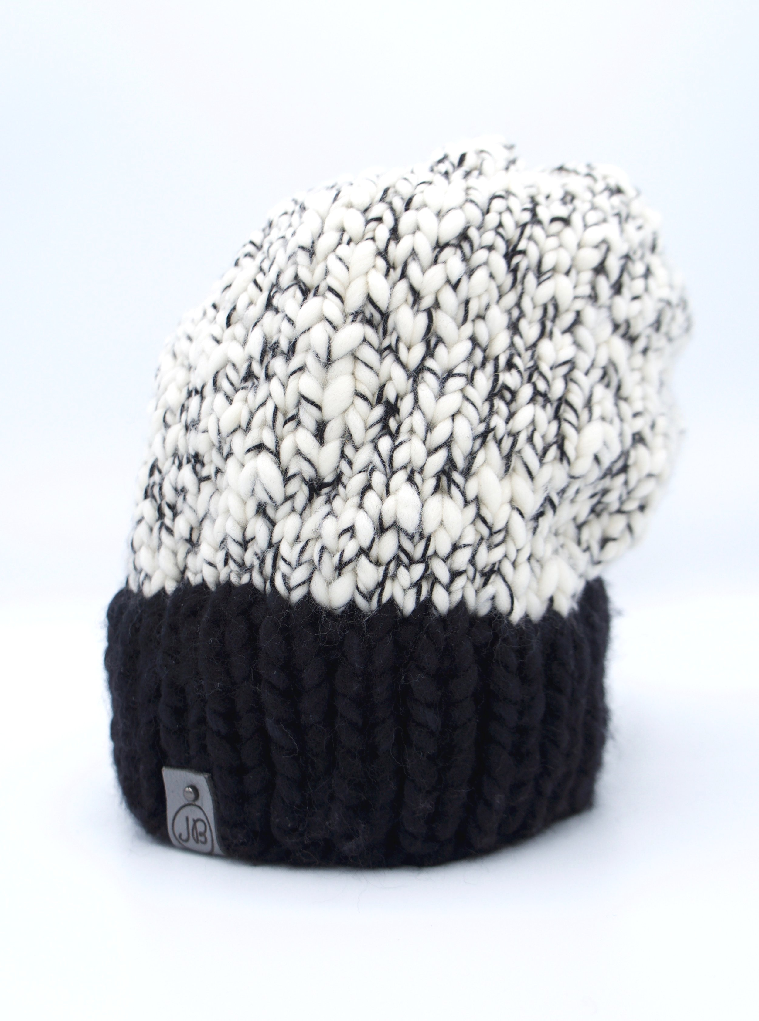 Slouchy Hat   Salt & Pepper  $125
