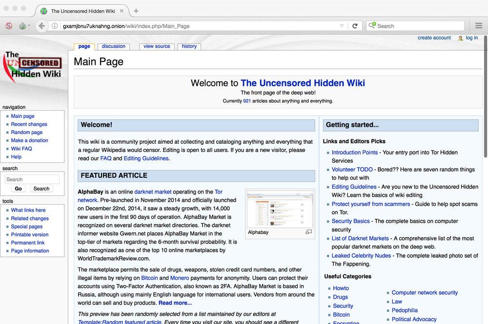 darknet hidden wiki gidra