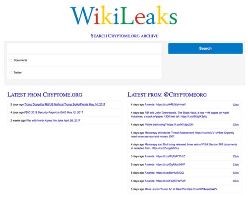 The darknet WikiLeaks archive.