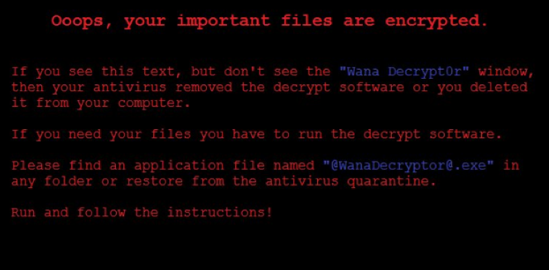 WannaCry Ransomware Instructions