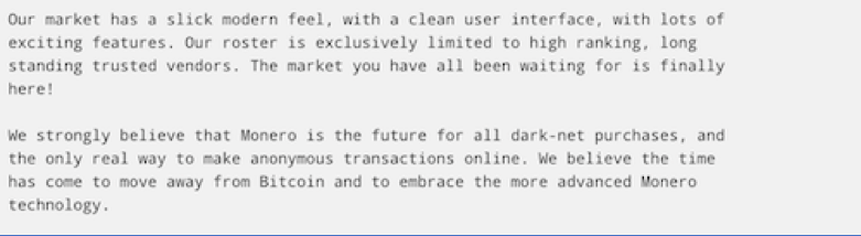 Figure 5 Libertas Original Welcome Message on their Market Forum