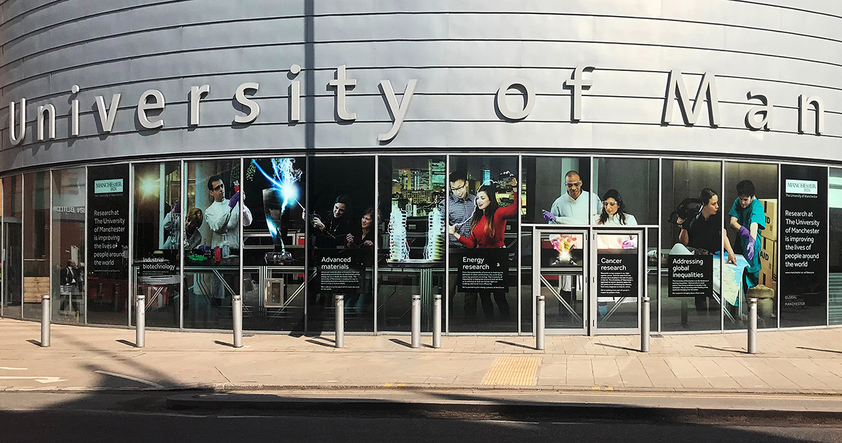 Final image in use across the University in print and as large scale signage