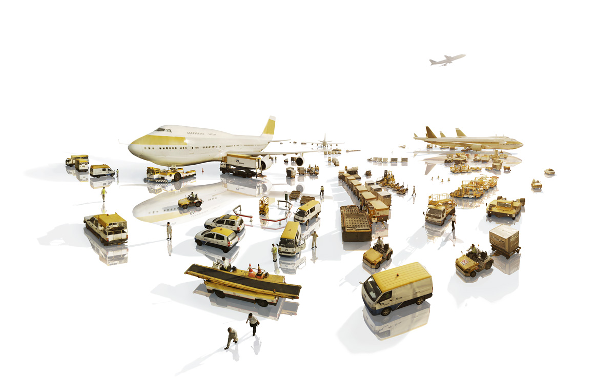 Constructed from many elements of the Hong Kong International Airport