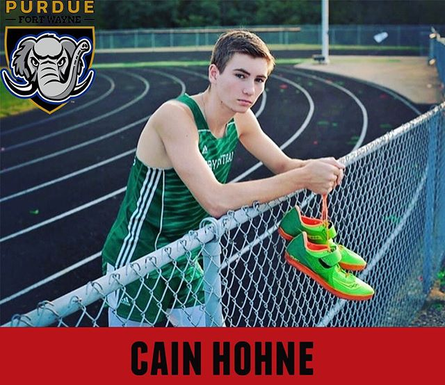 #seniorshowcase for a track and field star, Cain Hohne!  Cain will be attending IPFW to high jump for the Mastodons, and plans to study Biology.  Thank you, Cain for committing to #bepositivelydifferent