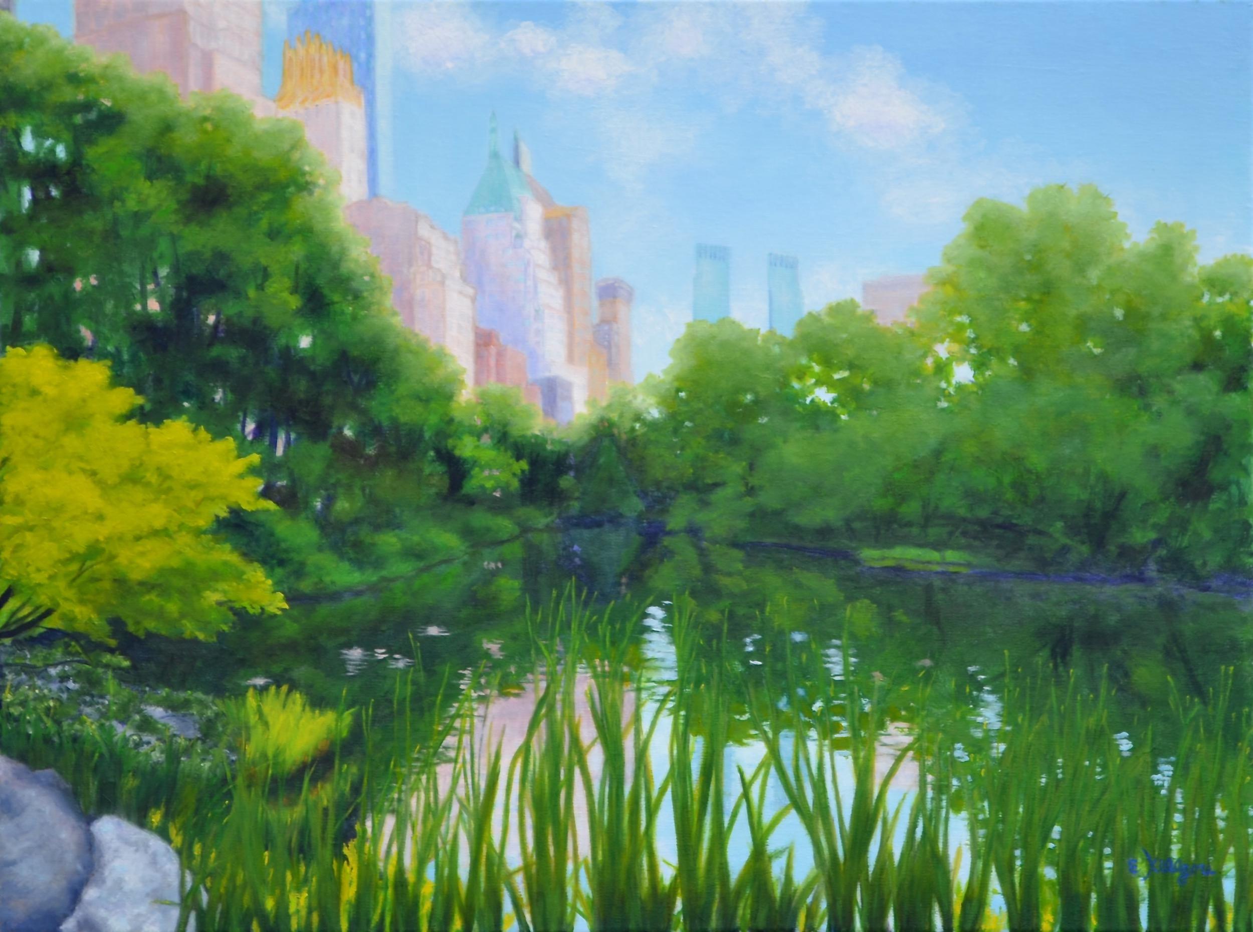 """Central Park Lagoon    18"""" x 24"""""""
