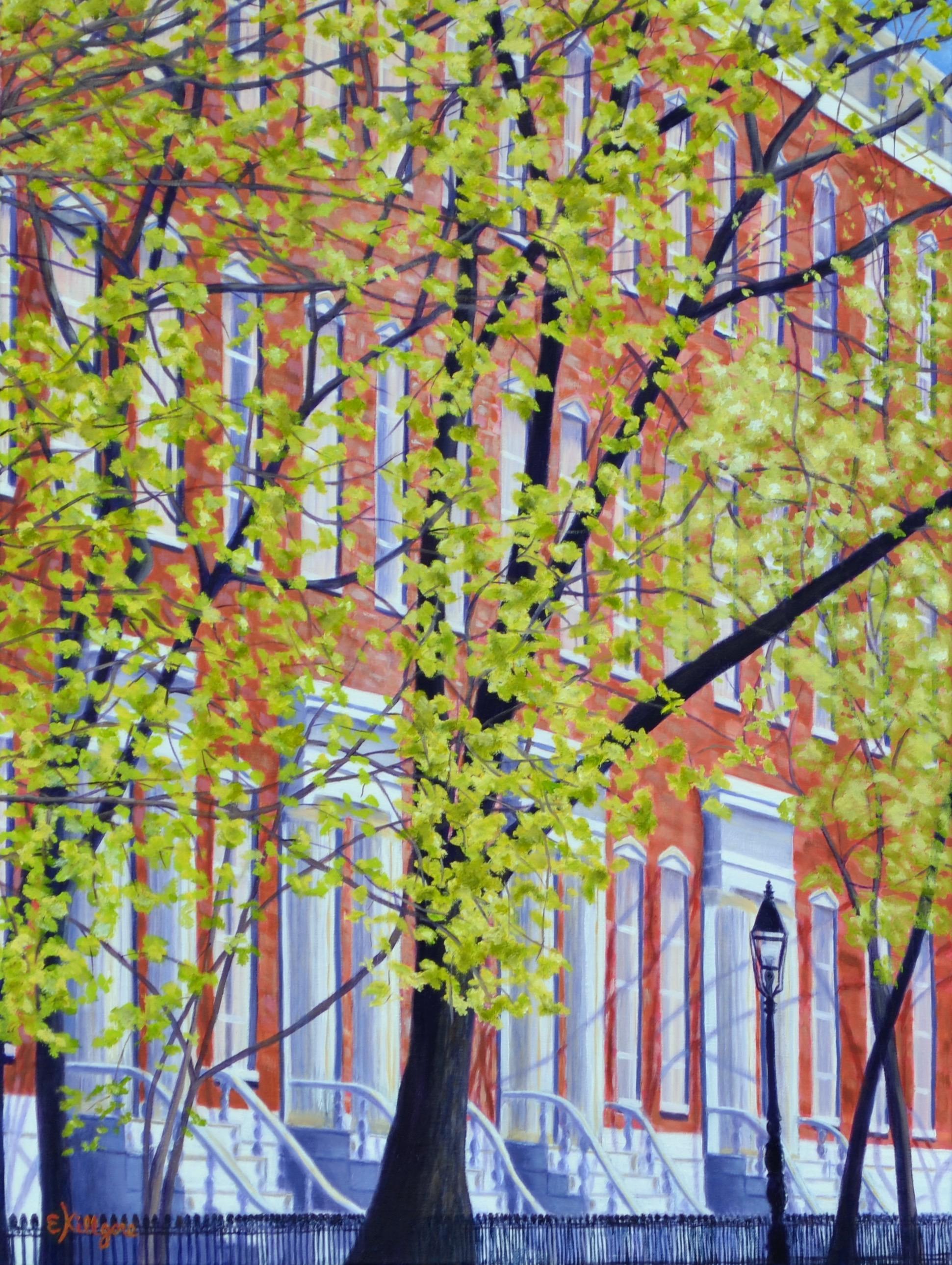 """April in New York  24"""" x 18"""""""