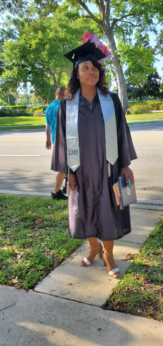 Almira will be graduating from FSCJ this spring and recently attended her Health and Sciences Pinning Ceremony in early May. Once she completes her two state exams, Almira will officially be a licensed Respiratory Therapist!