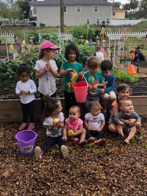 "Chet's Creek Church Lautzenheiser Life Group - This Chet's Creek Church Lautzenheiser Life Group has been volunteering once a month since Grace Garden was created six years ago. Pictured are all children who have ""grown"" up with the garden, from seed to kindergartener!"
