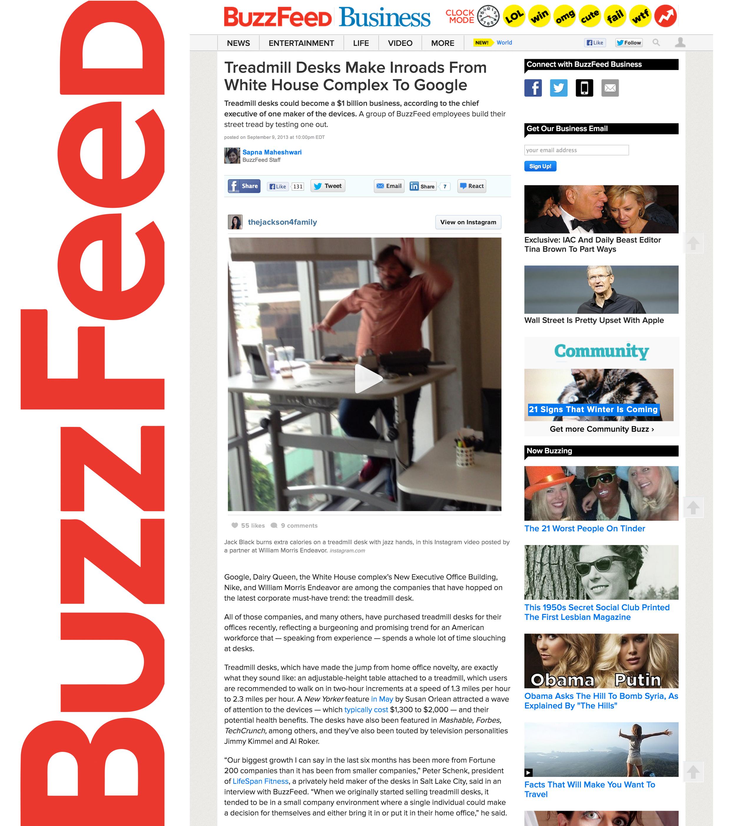 BuzzFeed_LifeSpan Treadmill Desk