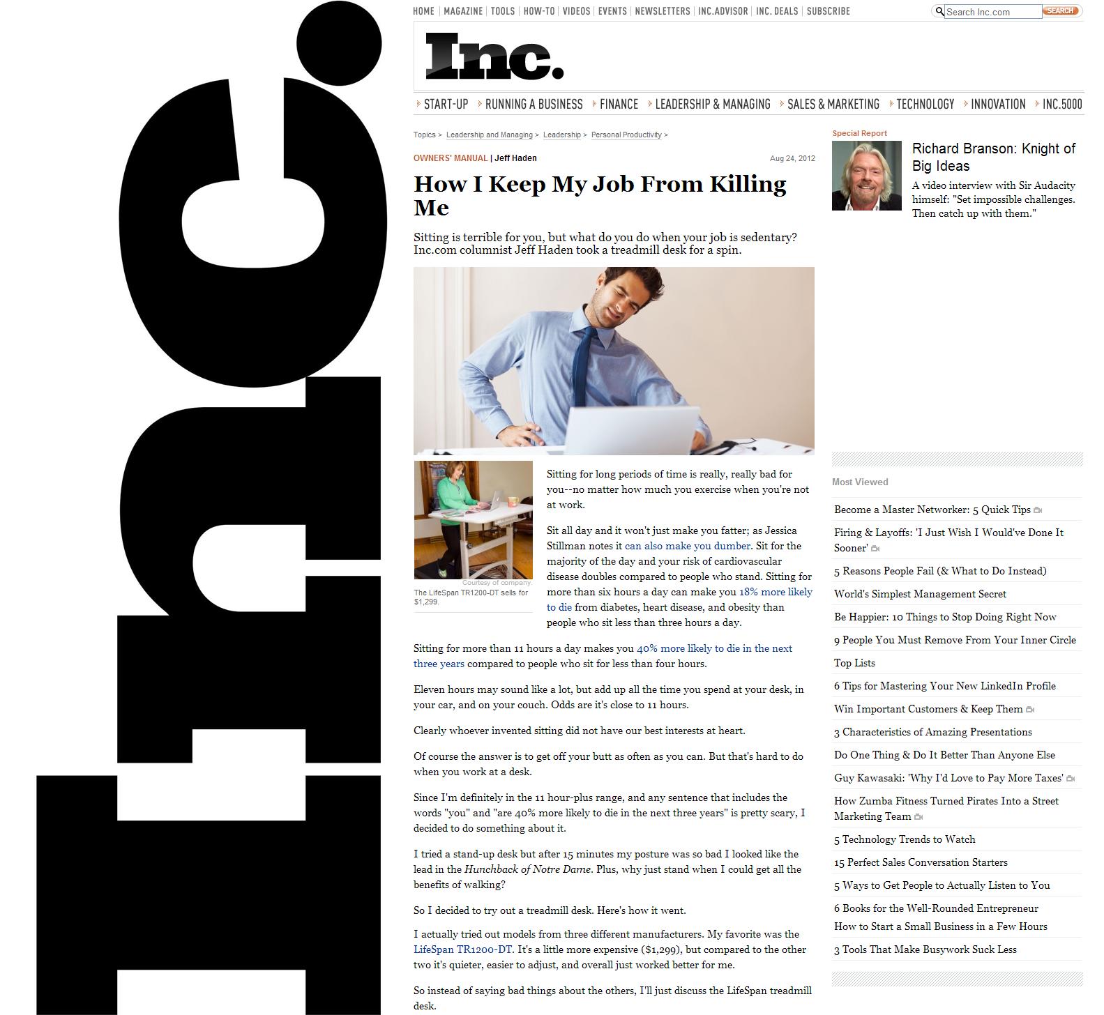 (Inc.) inc.com_LifeSpan Treadmill Desk