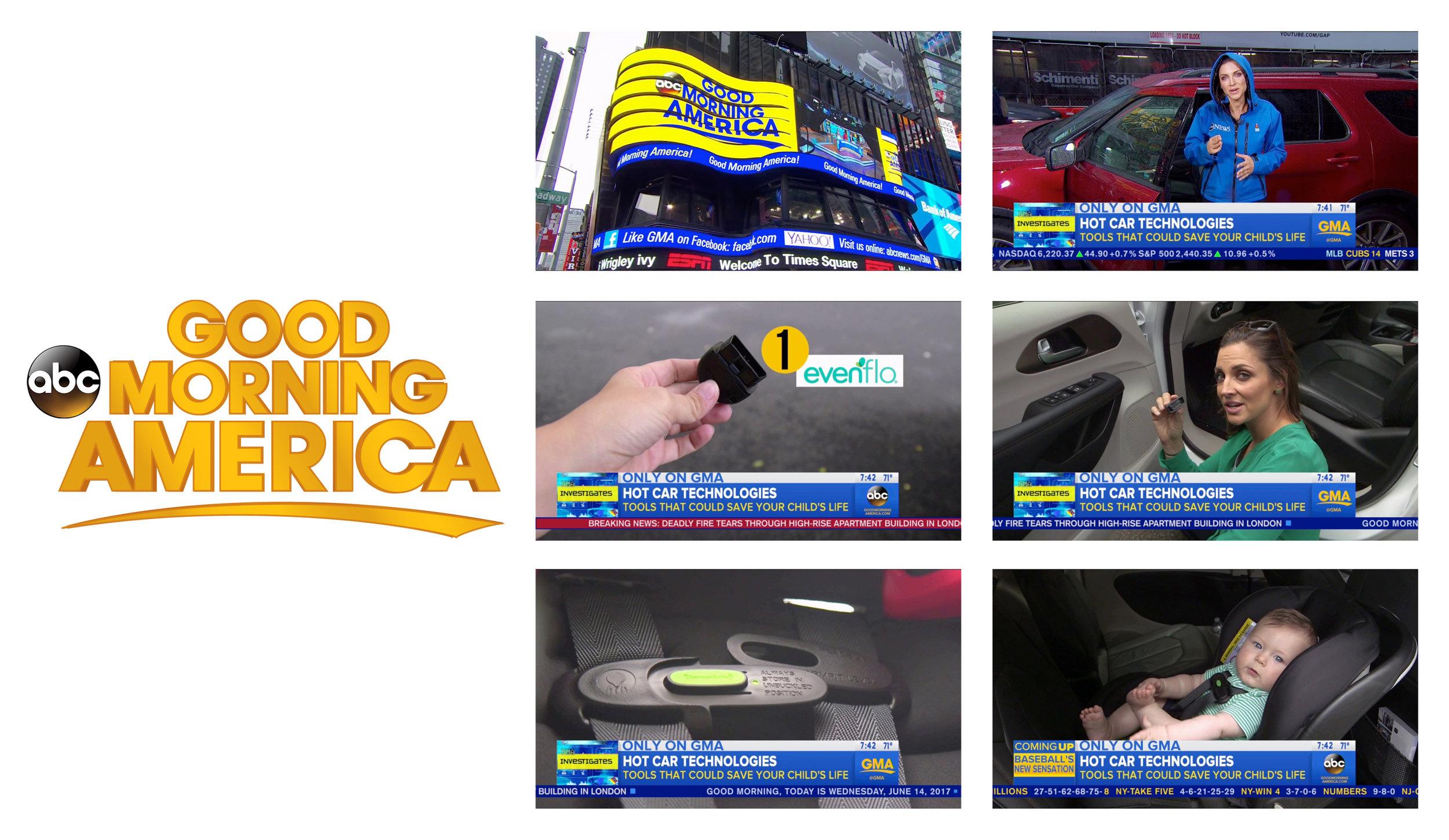 Good Morning America_Evenflo SensorSafe