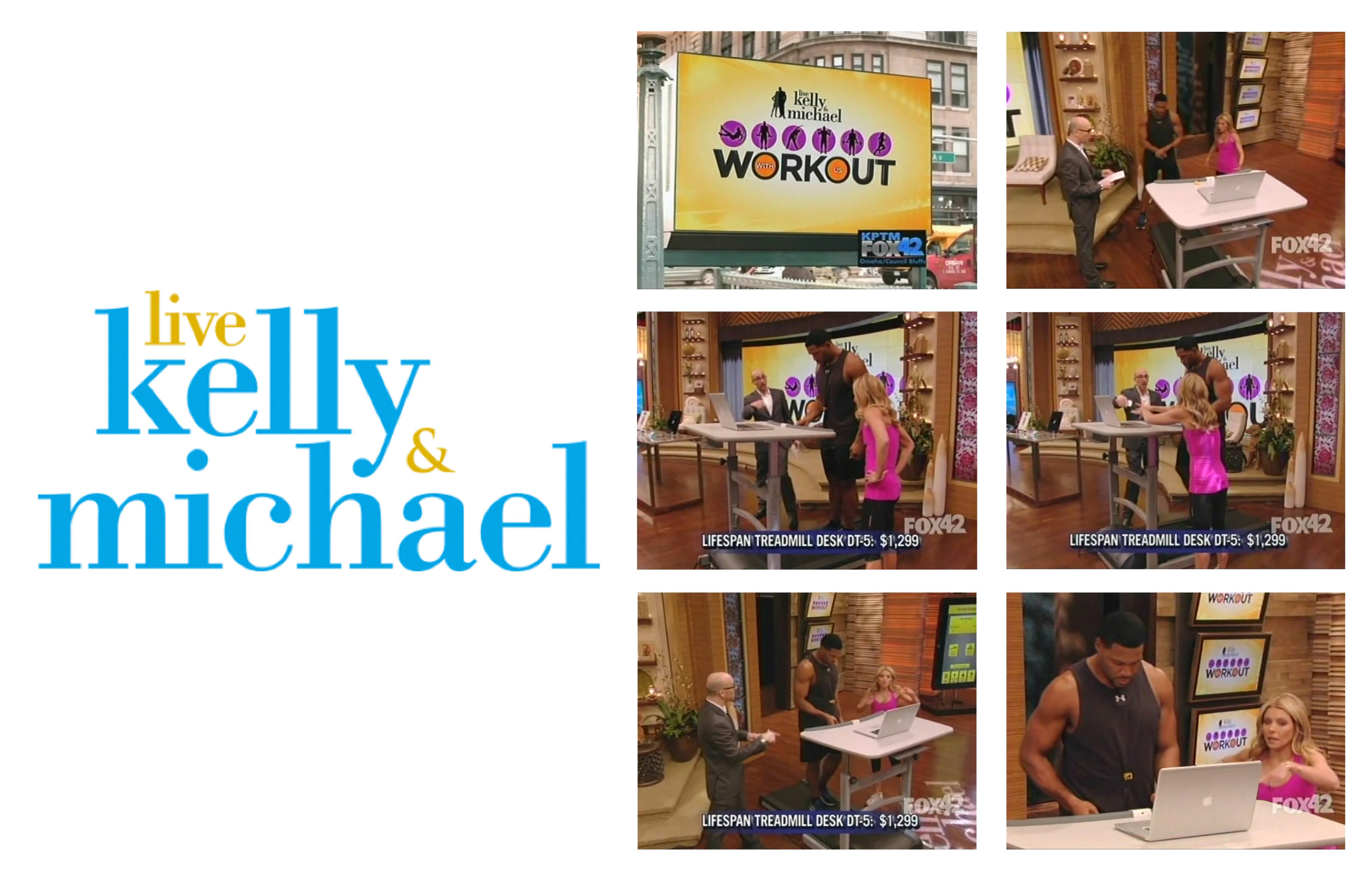 Live! with Kelly and Michael_LifeSpan Treadmill Desk