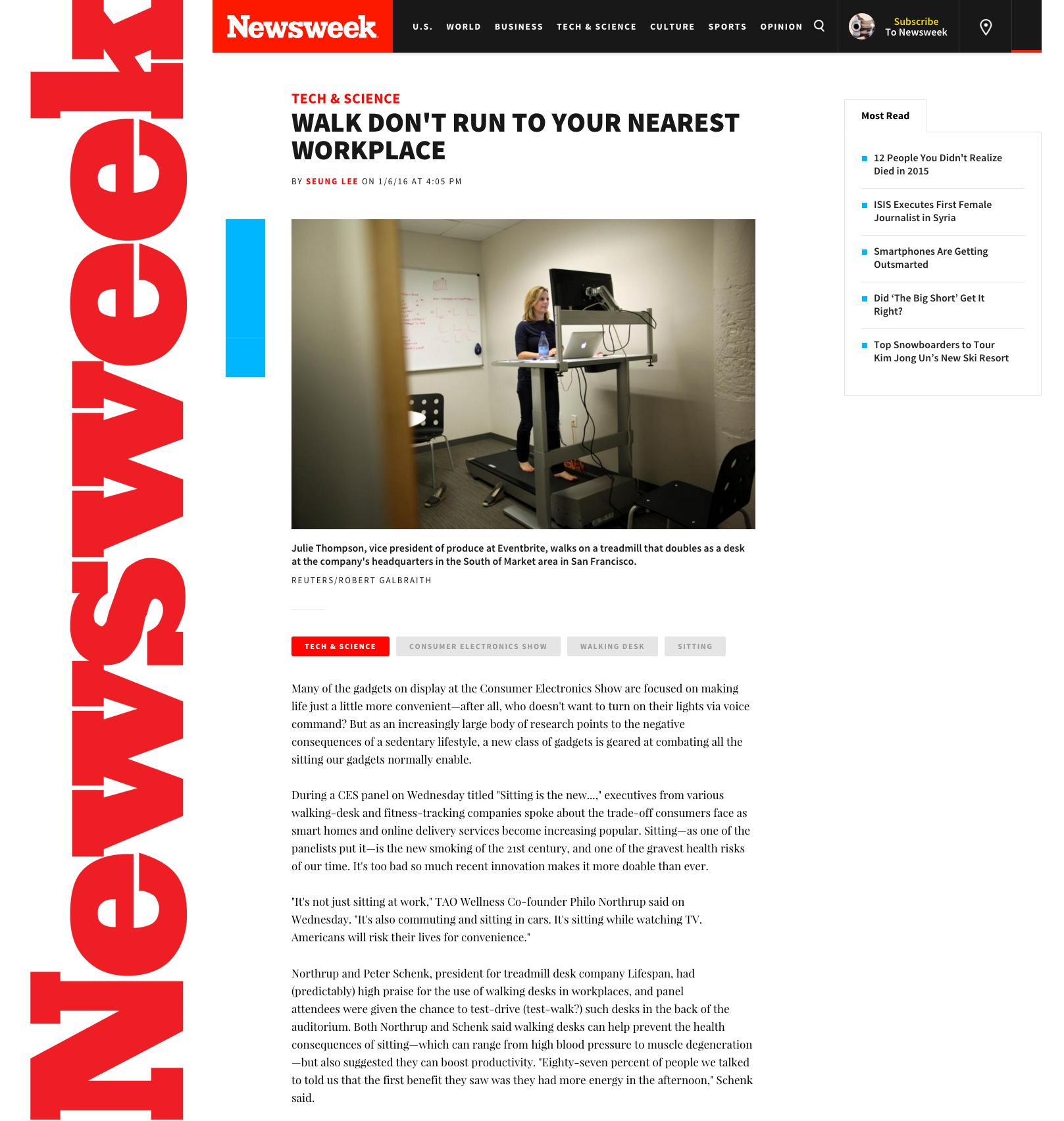 (Newsweek) newsweek.com_LifeSpan Treadmill Desk