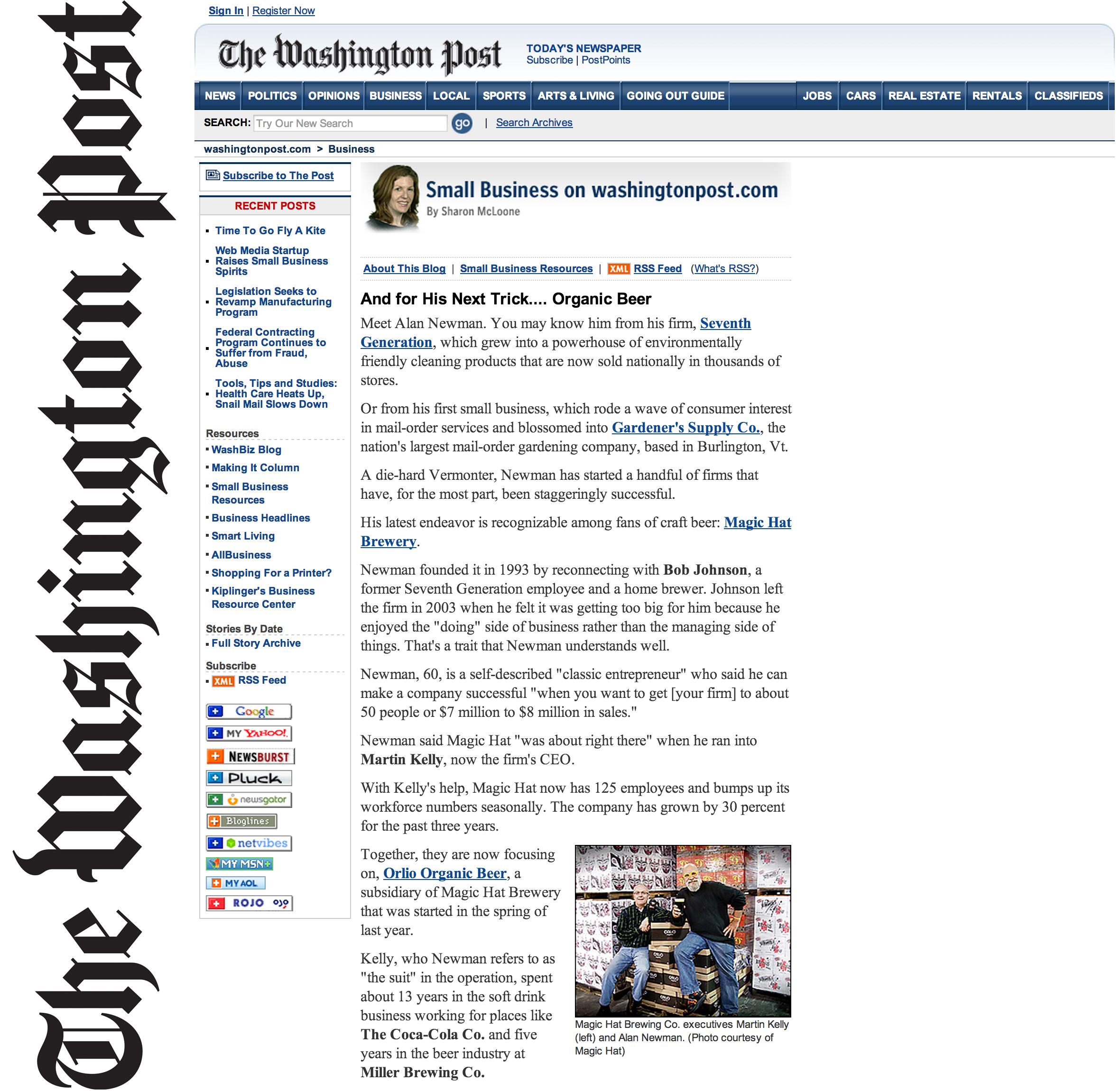 Washington Post_Magic Hat + Orlio
