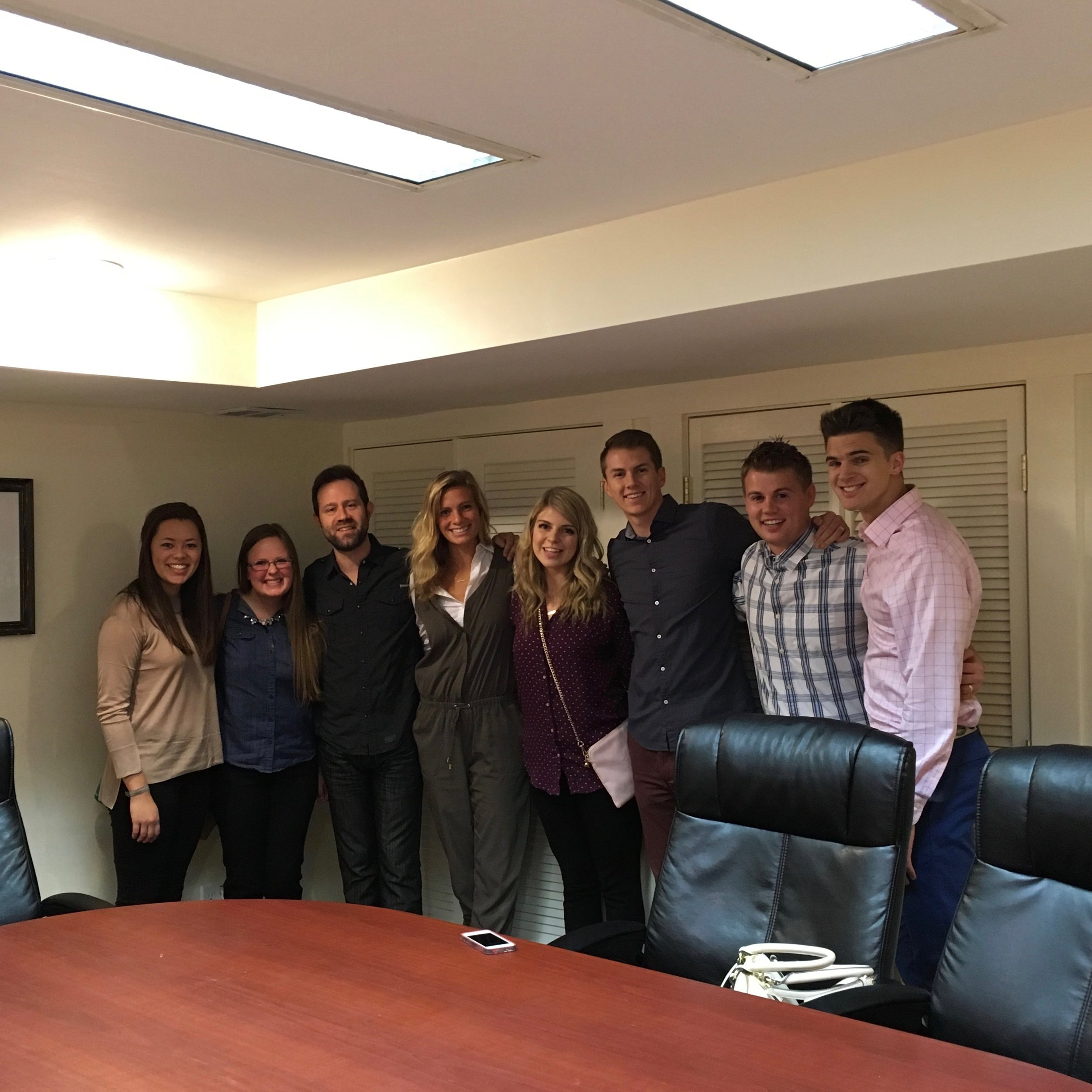 Giving an agency tour with Brigham Young University PRSSA students