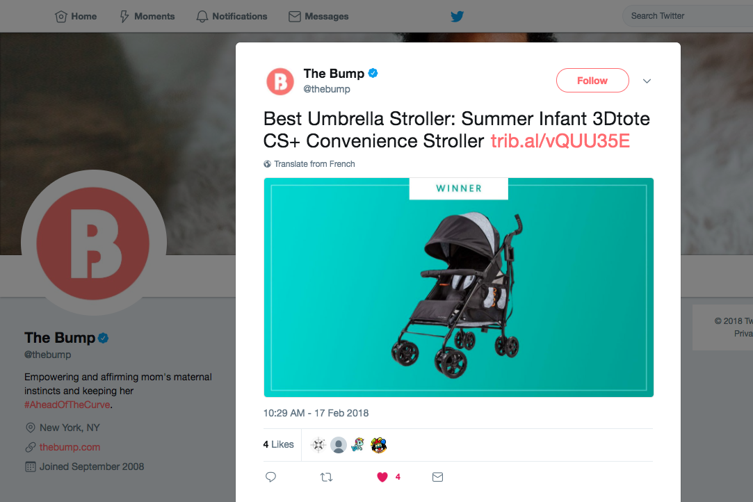 2018.02.20_The Bump, Twitter_Best of Baby, Summer Infant 3Dtote CS+ Convenience Stroller_cropped 3x2.png