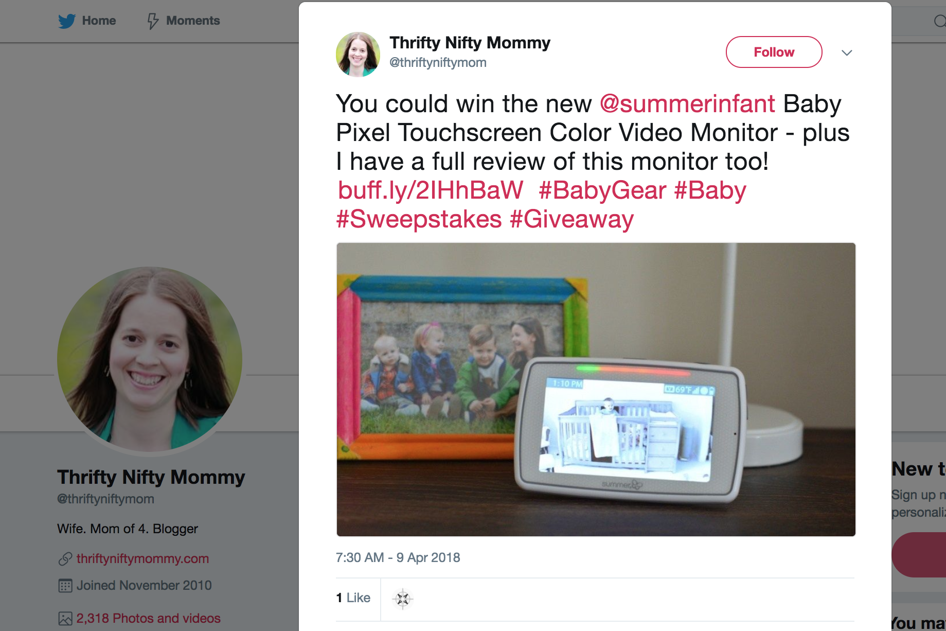 2018.04.09_Thrifty Nifty Mommy, Twitter_Summer Infant Baby Pixel giveaway_cropped 3x2.png