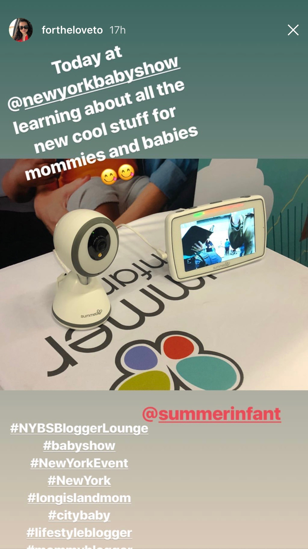 2018.05.19-20_For The Love To, Instagram Story_Summer Infant Baby Pixel Monitor.jpg