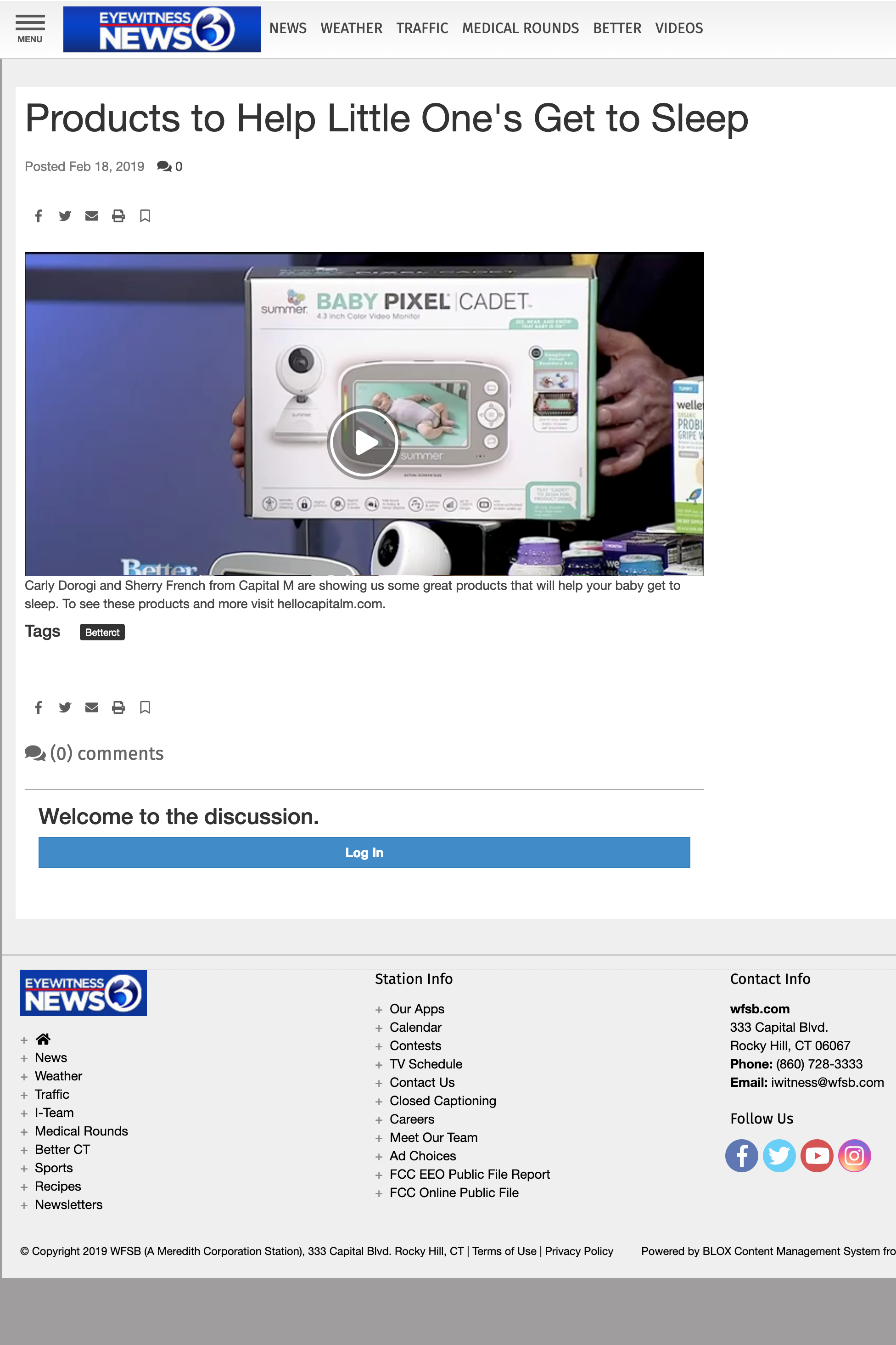 2019.02.18_WFSB-TV (CBS 3) Hartford, CT Better Connecticut Online_Summer Baby Pixel Cadet Video Monitor_cropped 2x3.png