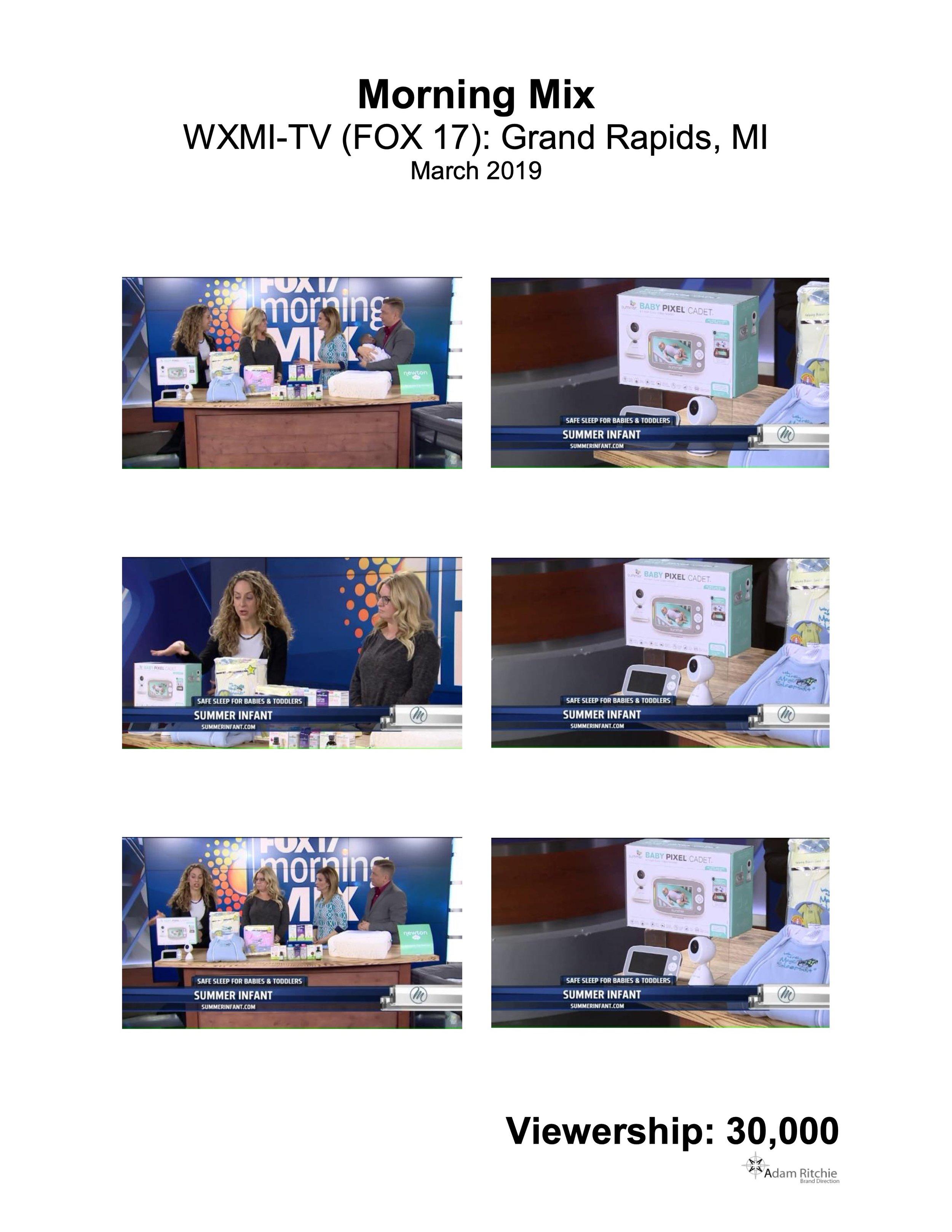 2019.03.01_WXMI-TV (FOX 17) Grand Rapids, MI Morning Mix_Summer Baby Pixel Cadet Video Monitor.jpeg