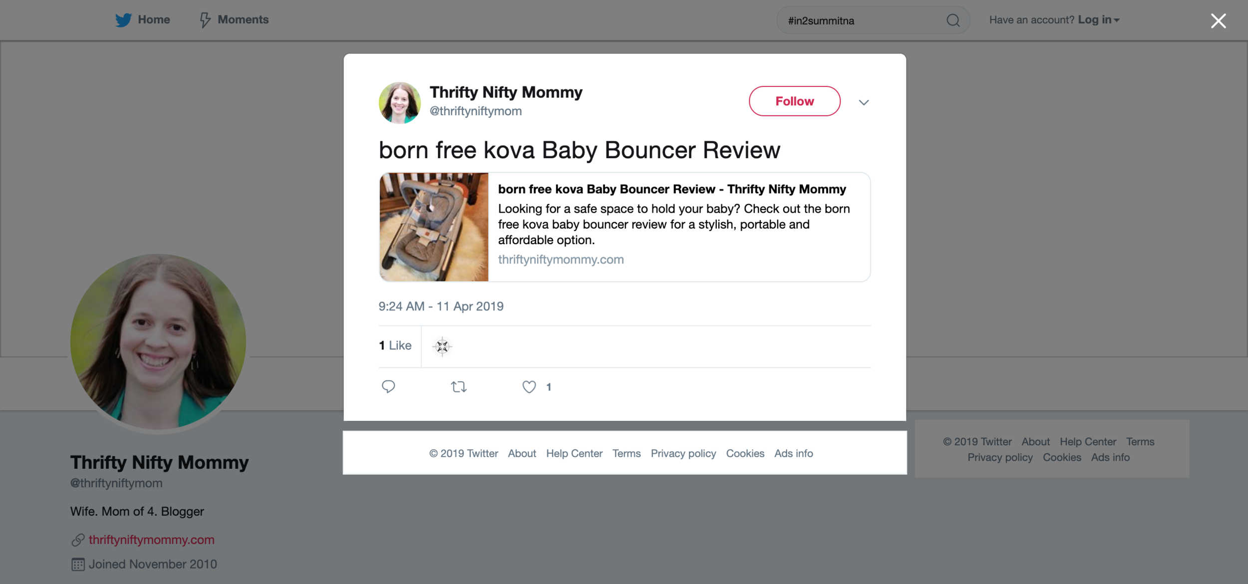 2019.04.11_Thrifty Nifty Mommy, Twitter_born free kova.png