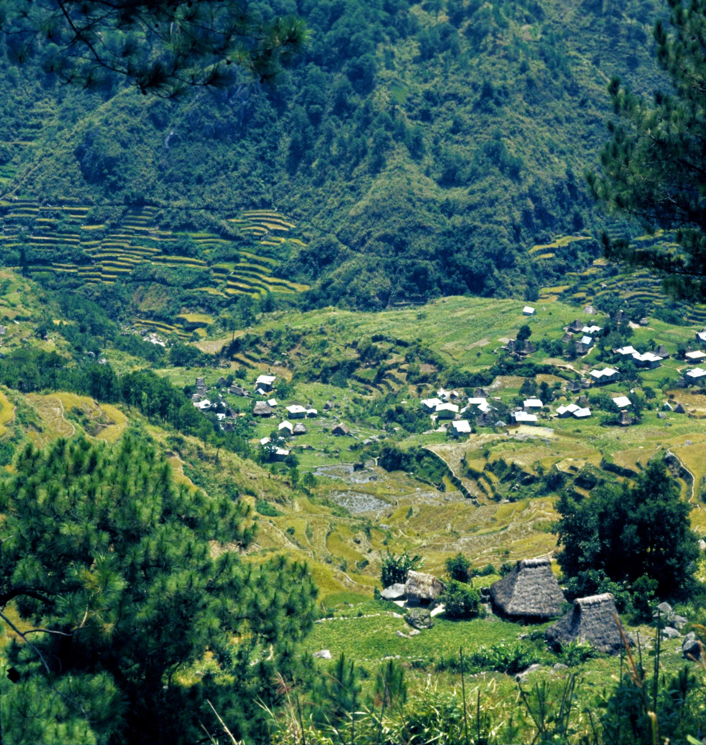Tanulong village at south end of Fedilisan-Tanulong valley. 1974