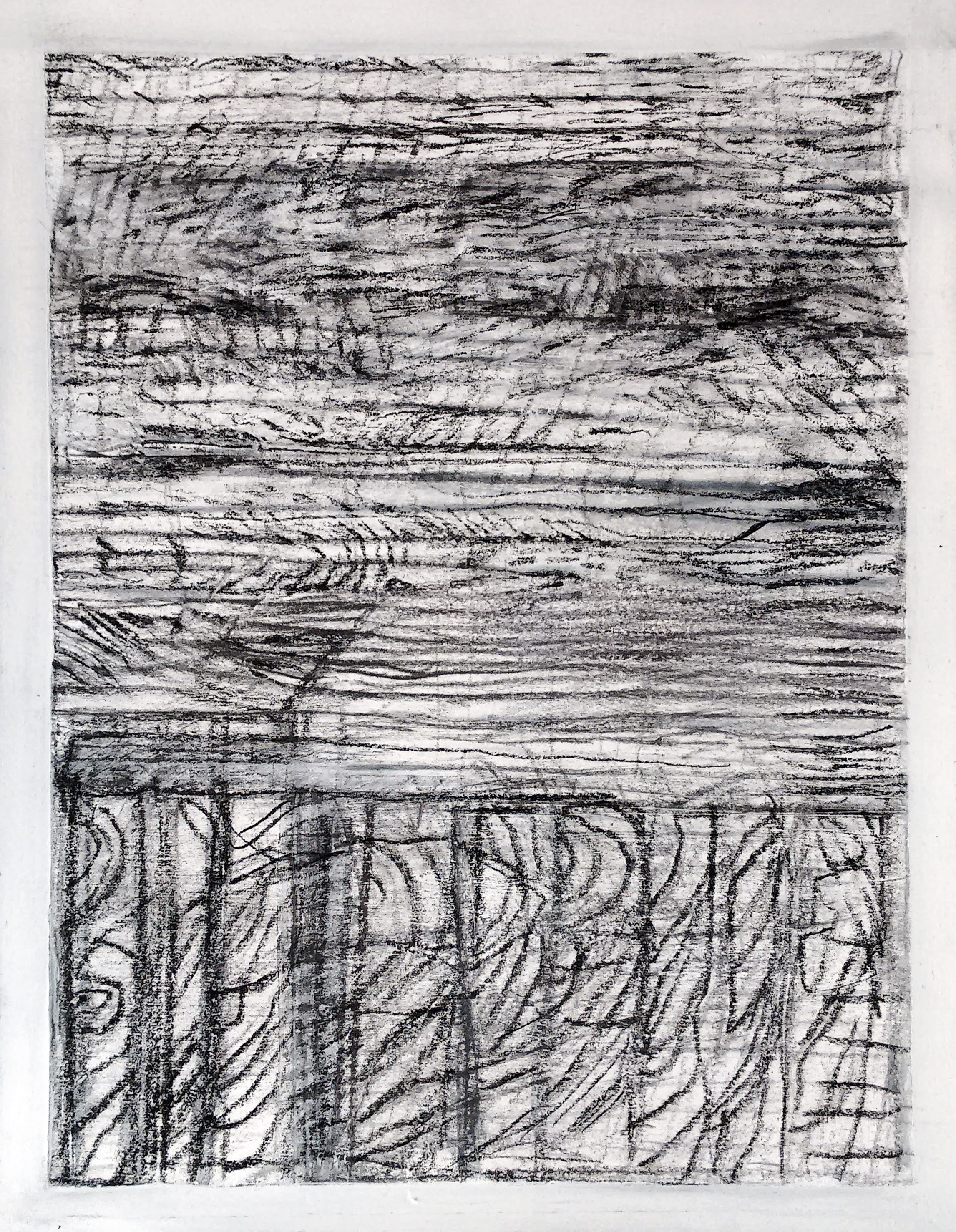 NY Sea #3 - Charcoal on Paper - 16'' x 20''