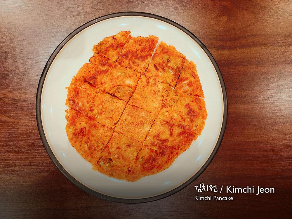 김치전 / Kimchi Jeon (v) Kimchi pancake  £7.00