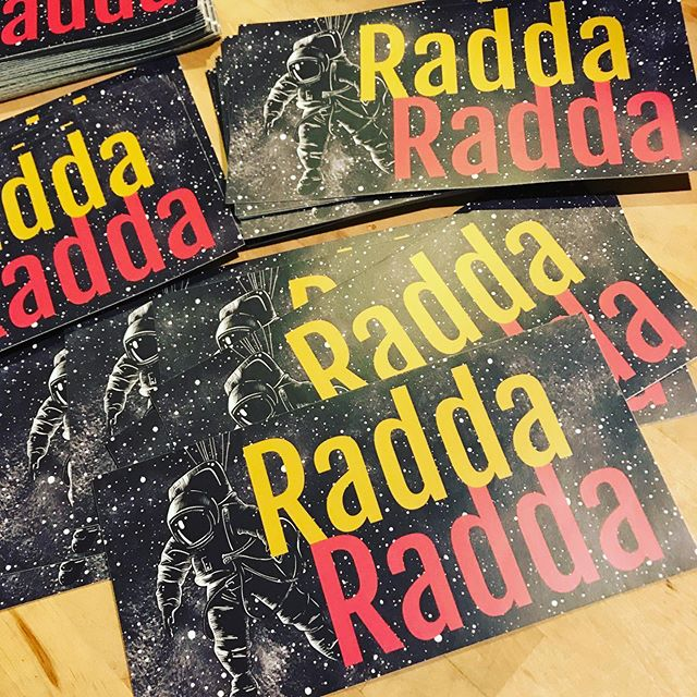Got a run of neato, limited-edition stickers to blast through next weekend. Free! Come say hi in Chicago, IL and/or Saint Cloud, MN and grab a couple from our merch table. . . . . . . . . . . #chicago #livemusic #artist #love #singer #photography #guitar #rocknroll #photooftheday #songwriter #musicians #band #music #rockandroll #art #miami #travel #newmusic #singersongwriter #musician #fashion #hiphop #concert #americana #guitarist #rock #raddaradda #raddaraddaraddaradda