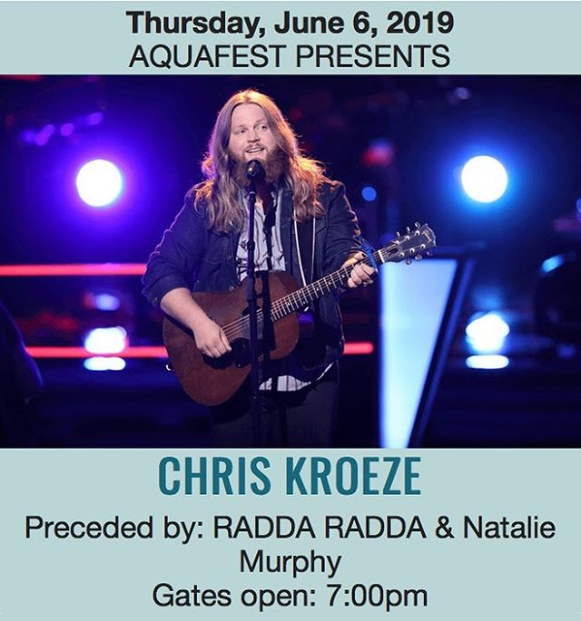 We'll see you at @ricelake.aquafest in just a few weeks with @chriskroezemusic  and @nataliemurphymusic! . . . . . #aquafest #chriskroeze #thevoice #wisconsinmusic #minneapolis #rockandroll #party #photooftheday #livemusic #minnesotamusic #popmusic #countrymusic #raddaradda #raddaraddaraddaradda #instamusic #festival #concert