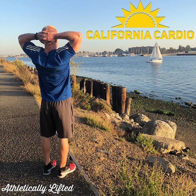 "Cardio SUCKS 🤮 ~~~ The treadmill is trash 🚮  I would jam on a bike, but I don't want to risk looking lame because I don't have the full one piece jumpsuit 🚴‍♂️😂 The elliptical frolic ain't my vibe either 😏 ~~~ Us Cali kids are sooo lucky to be able to run outside for the majority of the year ☀️ so I've been gettin in some ""California Cardio"" as I like to call it. ~~~ California Cardio is when you run outdoors cuz it's prob prime weather outside (even in December), and hit some intervals to beef 🥩 up those thighs and make them thick like tree trunks 🌳. ~~~ I alternate between sprint and recovery intervals every minute or so, or just until the next song comes on 😉 this keeps the body from breaking down muscle like in LSD running 🖕 ~~~ You've watched the Olympics, the sprinters are effin jacked 💪 the marathoners look like your step-cousin Ned from your aunt Gloria who's really only your aunt by marriage and now she is recently divorced from your weird uncle Steven 🤷🏼‍♂️ ~~~ Don't be a Ned. Run Outdoors. Hit that California Cardio 🏃‍♂️ ~~~ Stay Athletically Lifted 🏆"