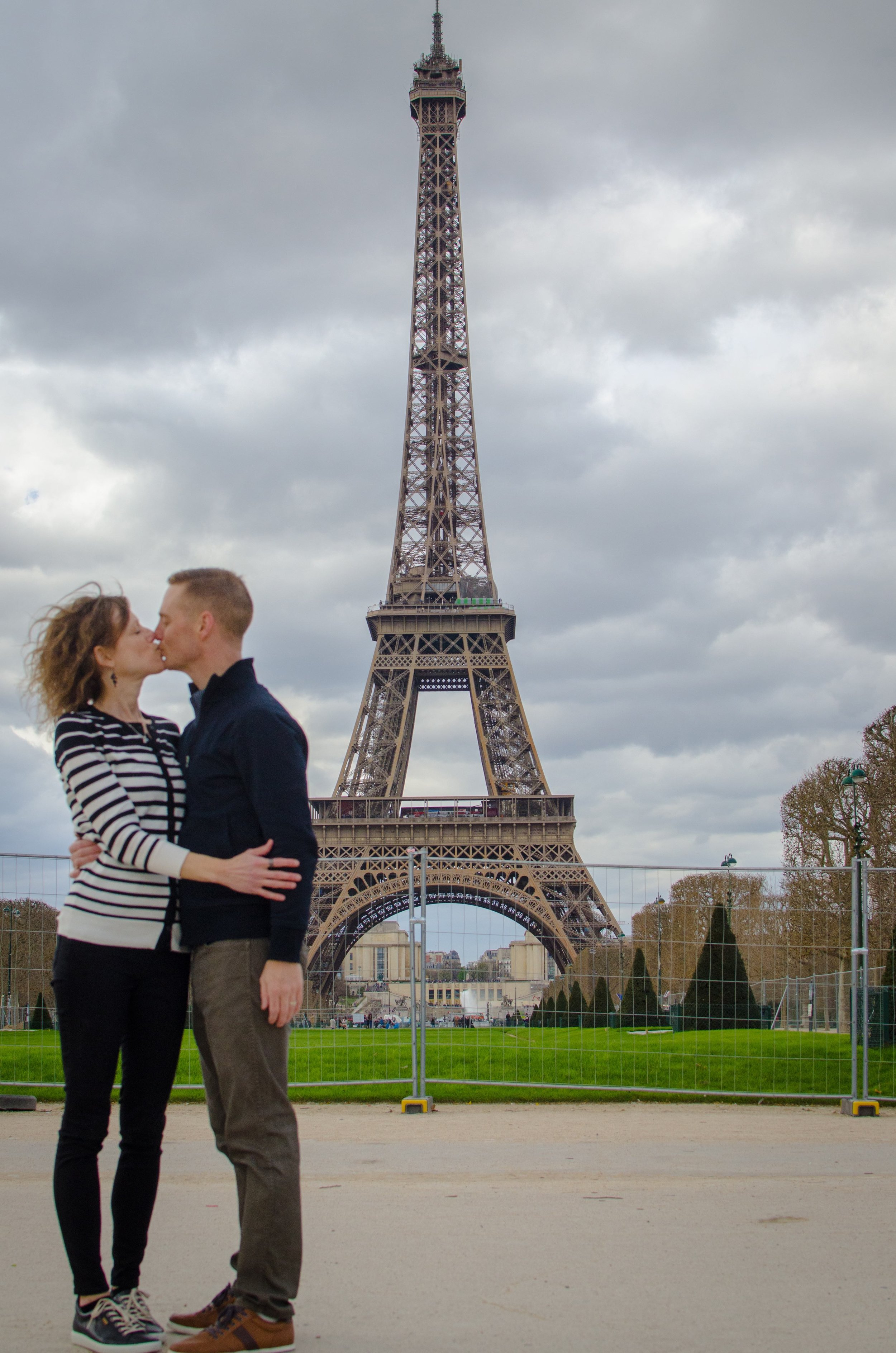 Taken this past spring in Paris by our daughter—we forced her to commemorate a mushy moment.