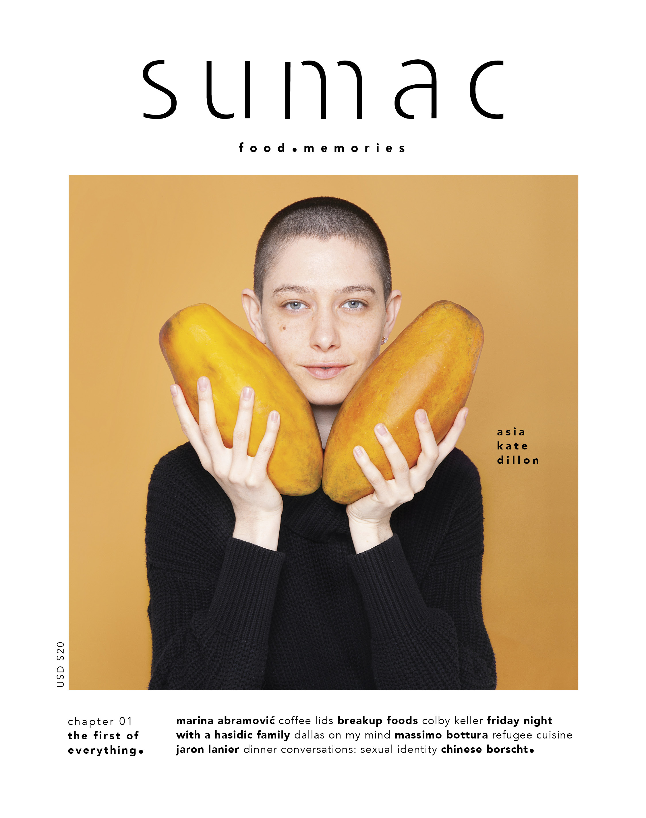 Launch issue. On cover: Asia Kate Dillon