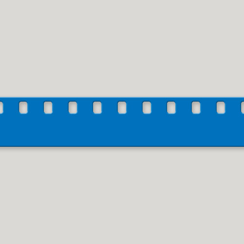 8mm White or Blue Film Leader - 7mil Polyester - *Processing Lab Leader* —  HollywoodFilmSupplies com
