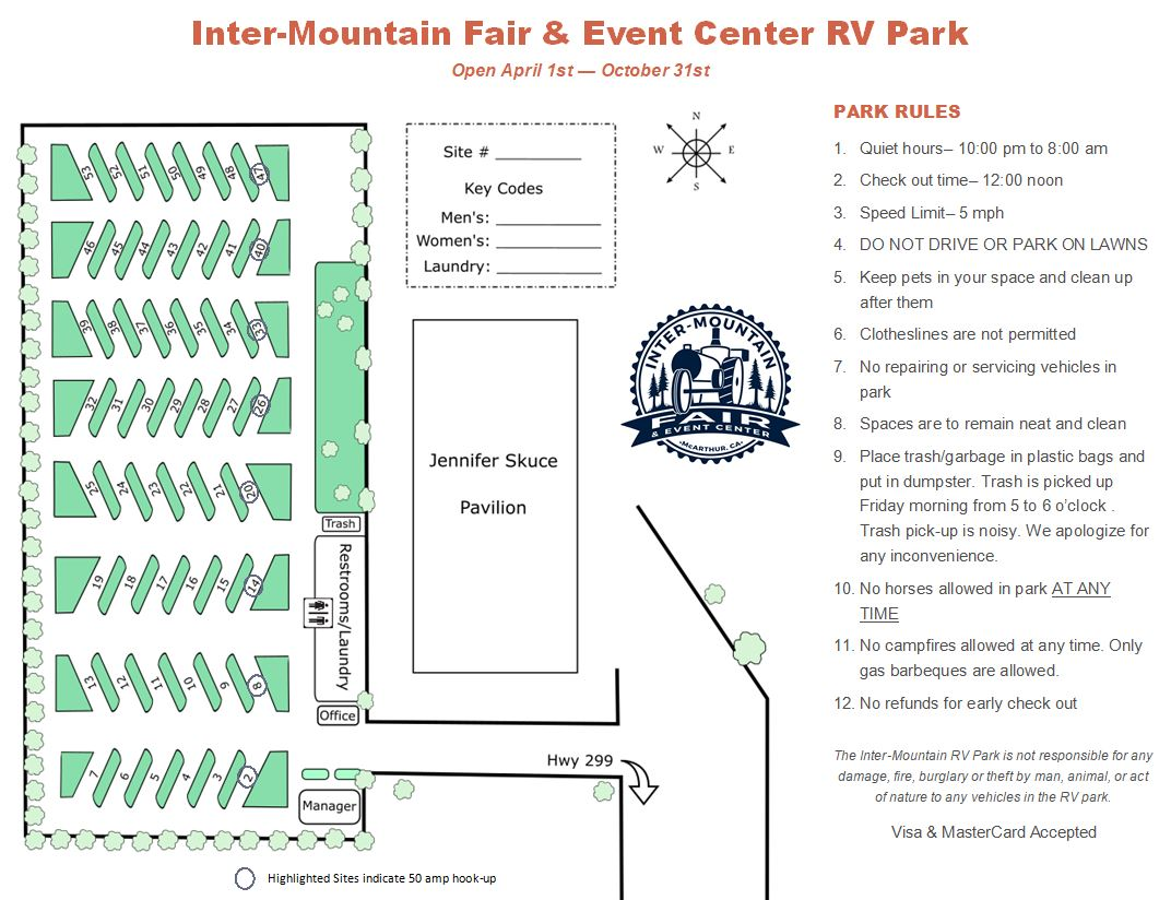 Rv park w. 50 amp and rules.JPG