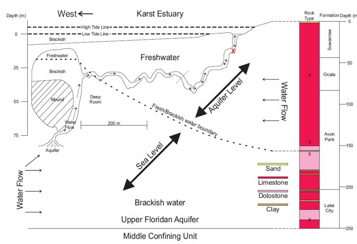 A hydrological model of the Double Keyhole Spring System.