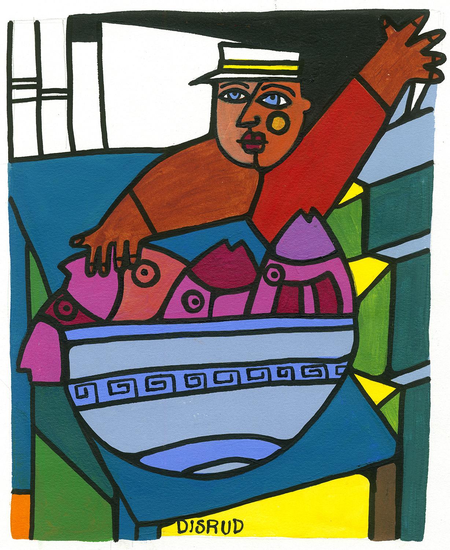 carrie disrud painter illustrator key west kalypso studios - Bowl of Fish.jpg