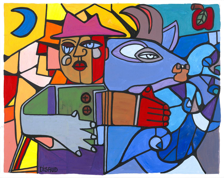 carrie disrud painter illustrator key west kalypso studios - Blue Bull.jpg