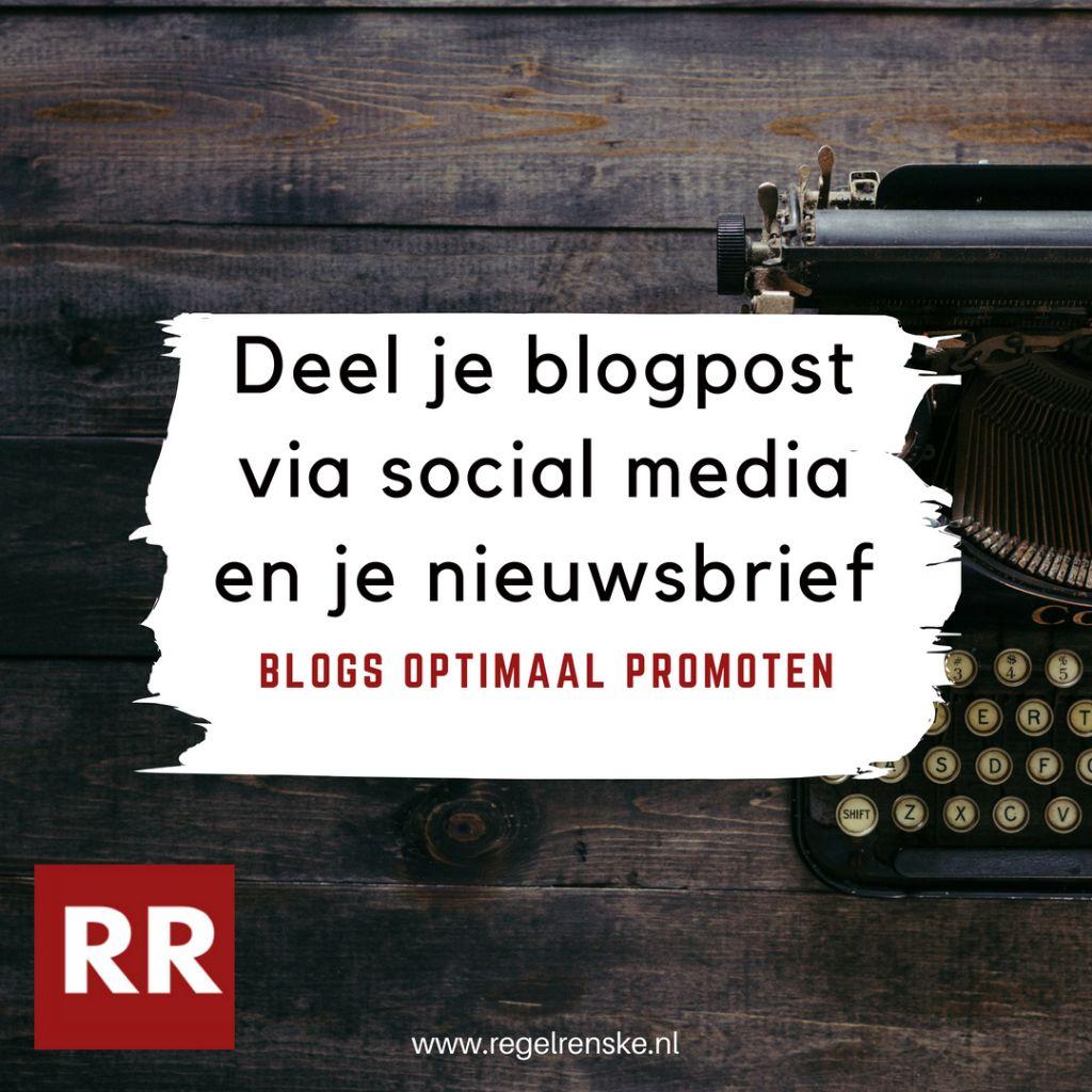 Een visual uit mijn blogpost    5 tips om je blogpost optimaal te promoten   , die ik kan inzetten om deze blogpost onder de aandacht te brengen