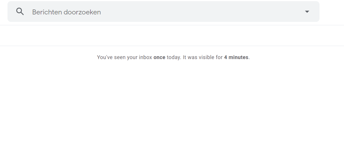 Met Inbox When Ready wordt je inbox pas zichtbaar op het moment dat jij op 'Toon Postvak IN' klikt