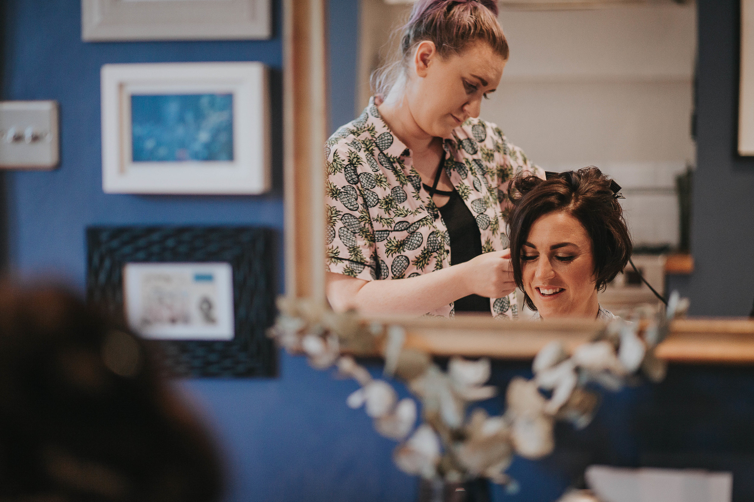 Bride getting ready in Halifax