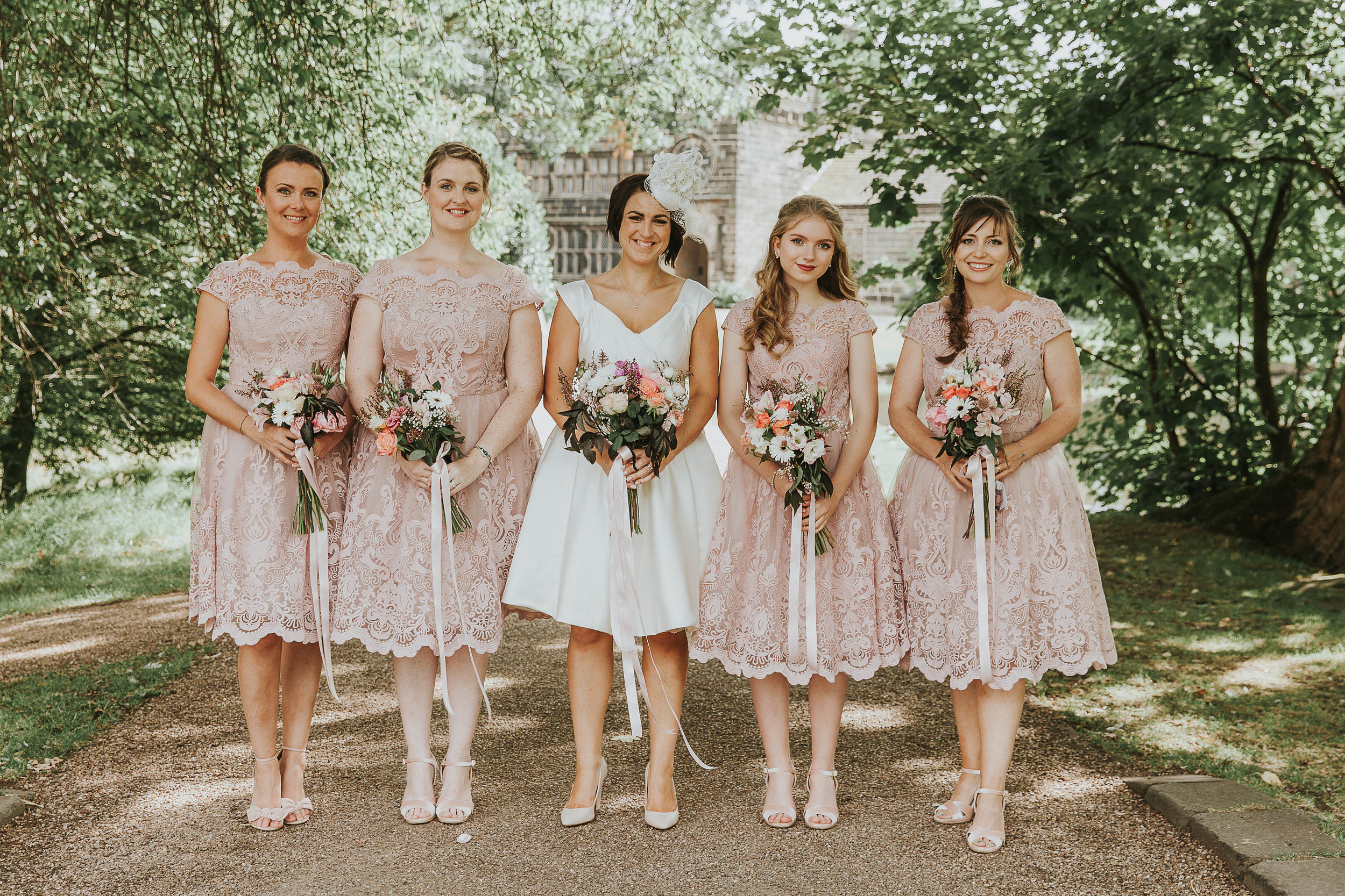 Bridesmaids at East Riddlesden Hall