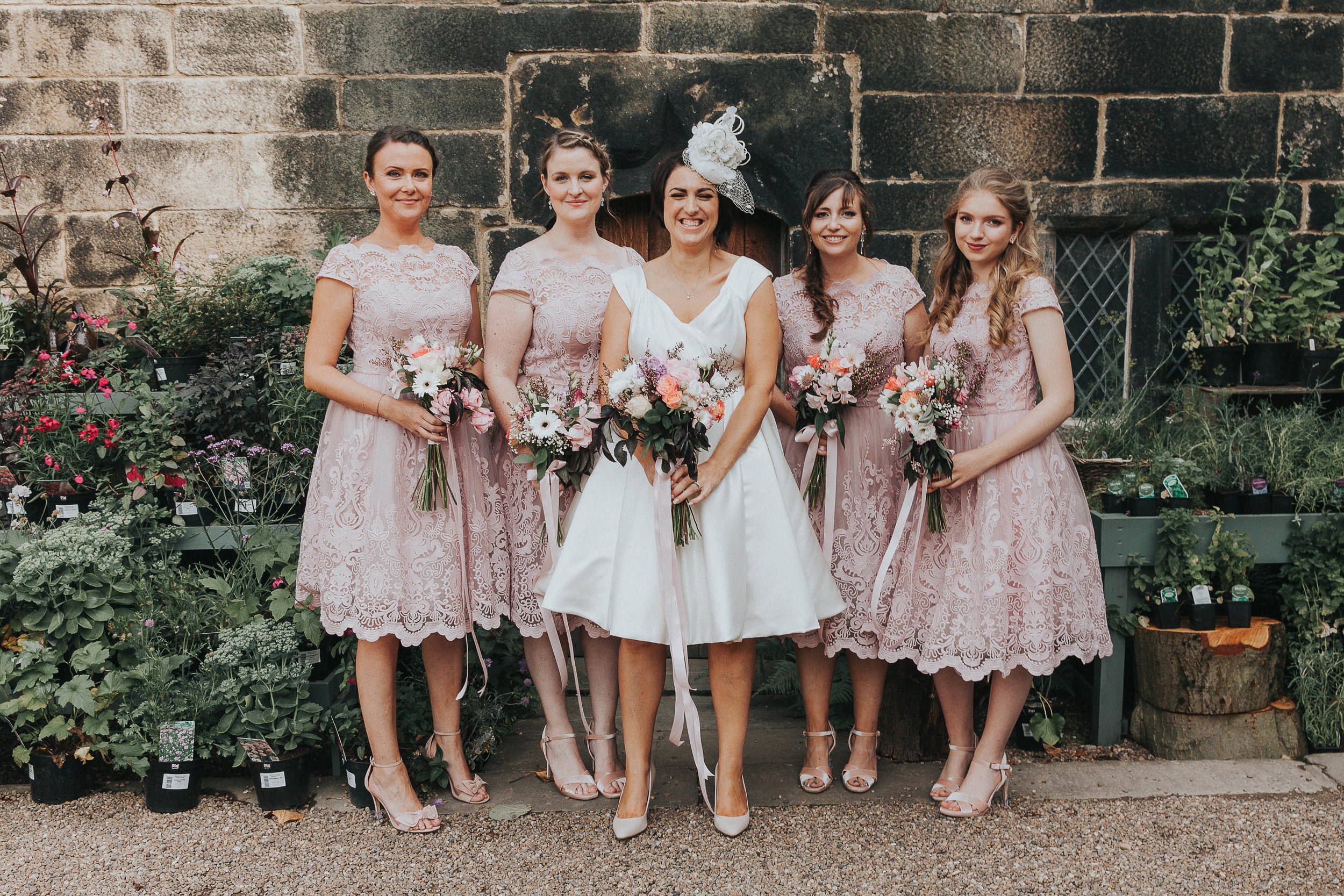 East Riddlesden Hall bridal party