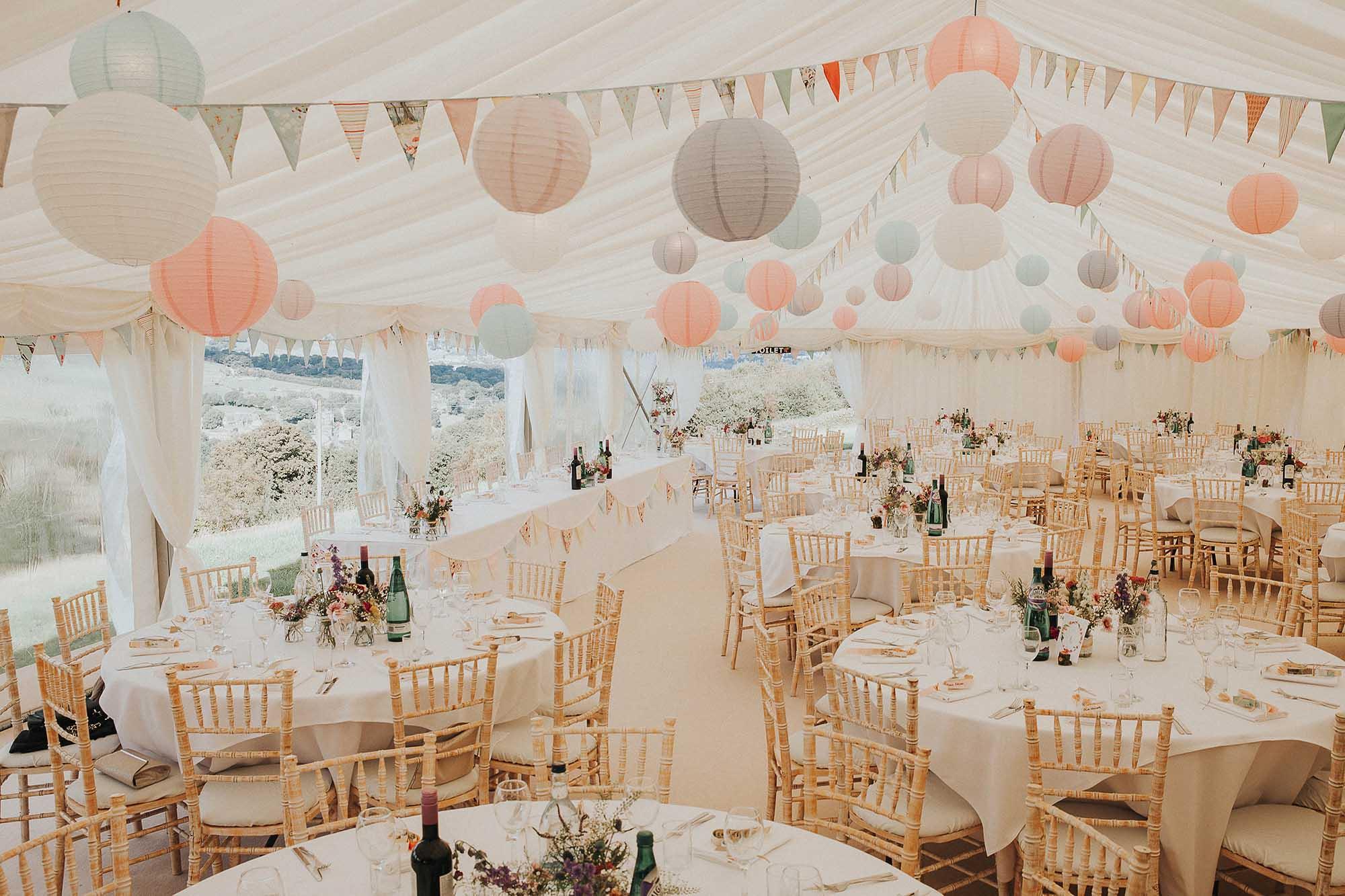 Yorkshire wedding marquee