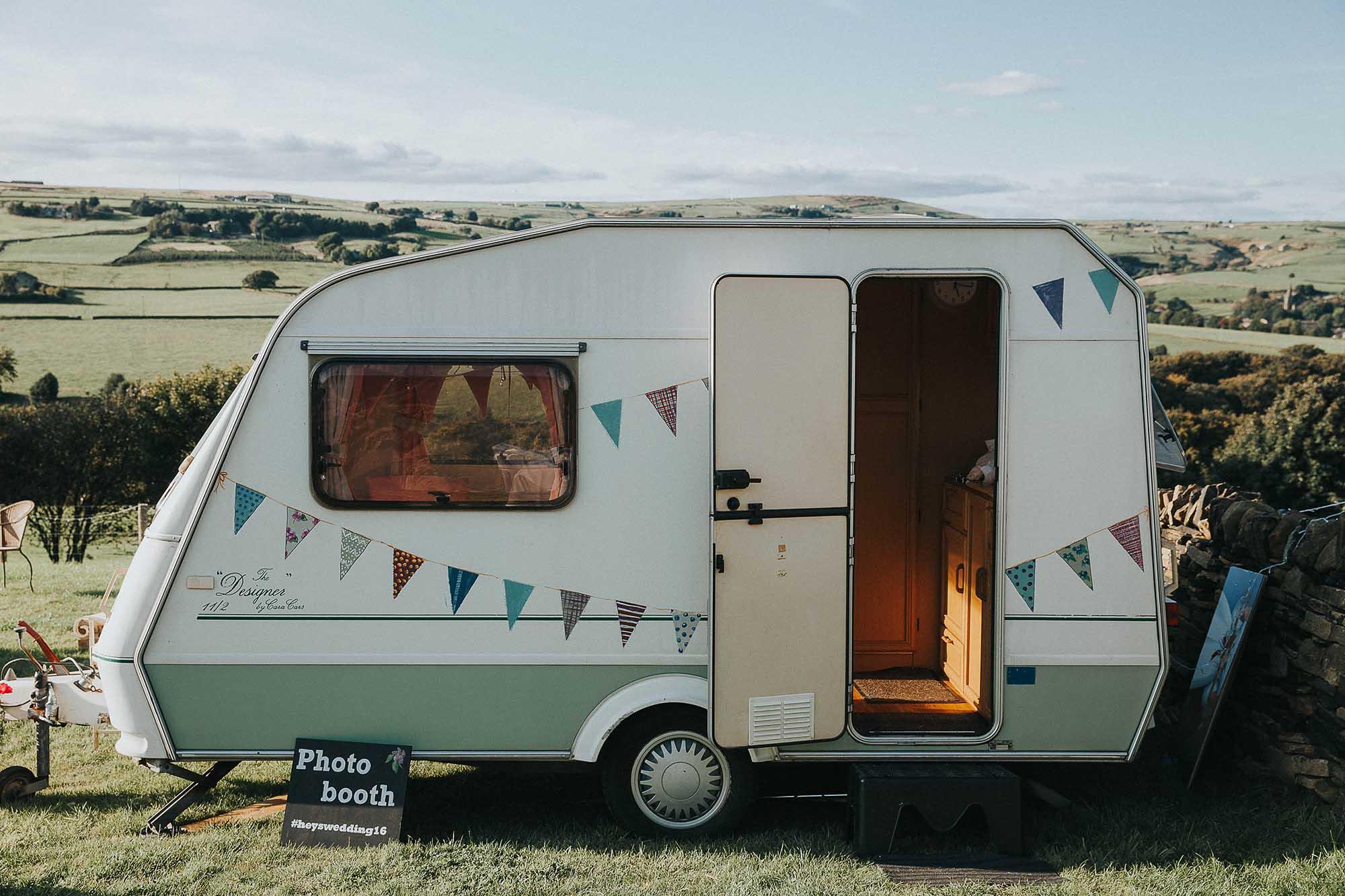 Vintage caravan wedding
