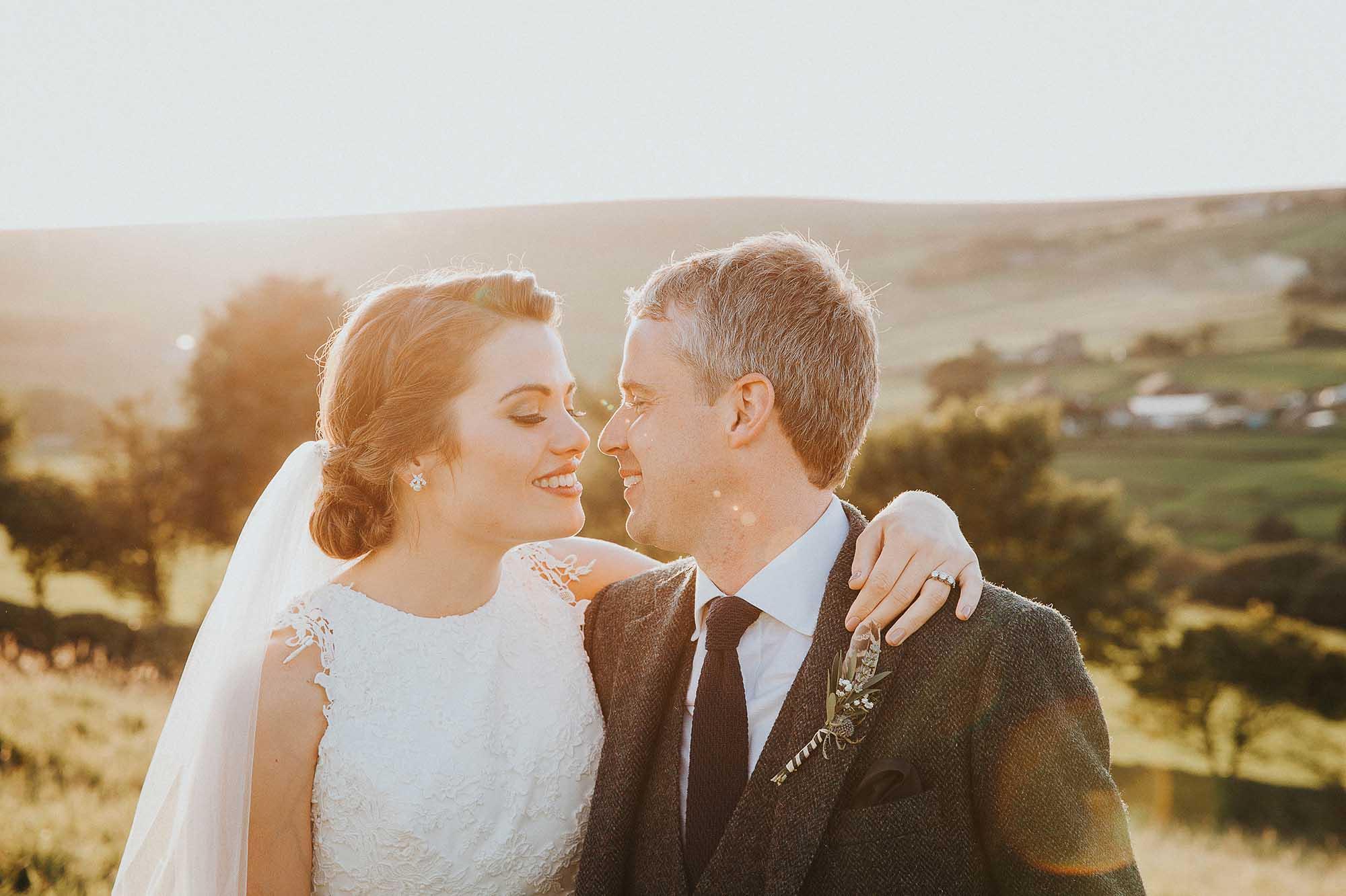 Natural wedding portraits Yorkshire
