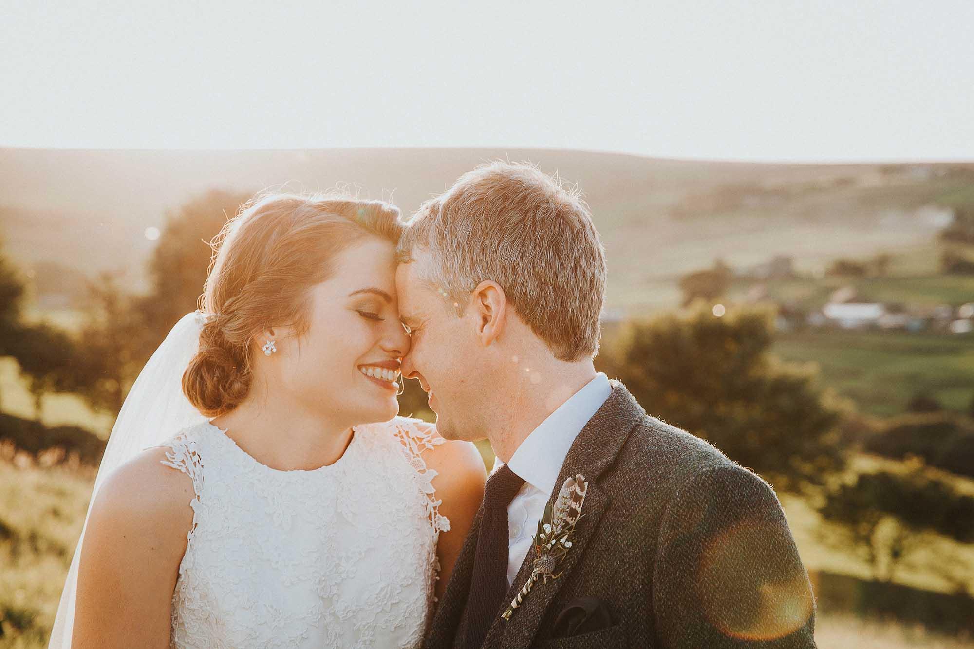 Sunset wedding photos West Yorkshire