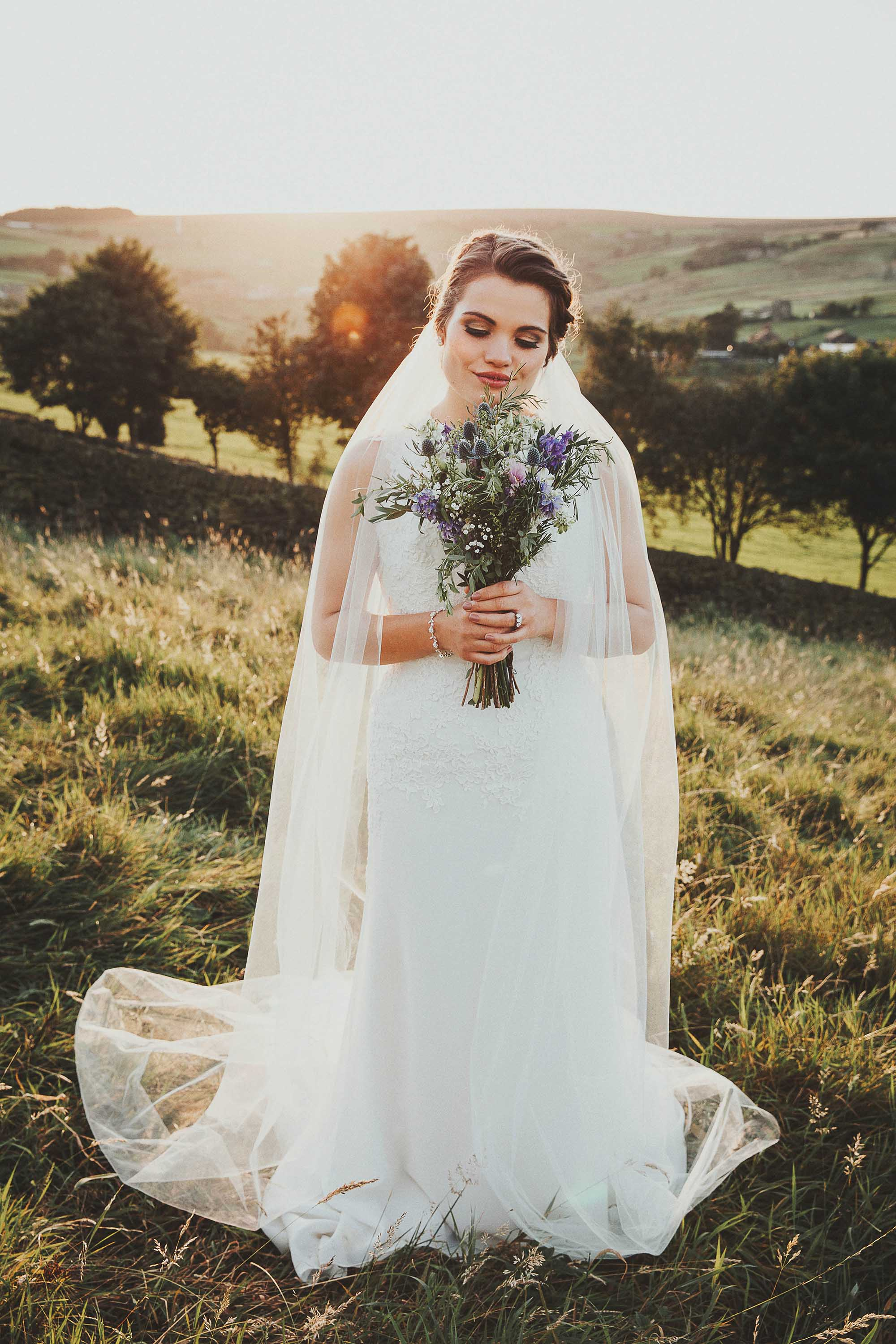 Sunset wedding photography in Yorkshire
