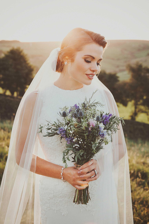 Wild flowers wedding West Yorkshire